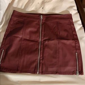 Express leather mini skirt